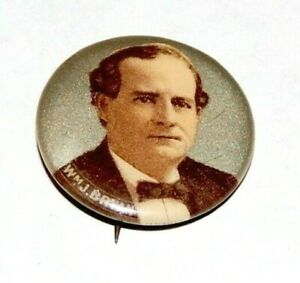 """1900 WILLIAM JENNINGS BRYAN 7/8"""" campaign pinback button political presidential"""