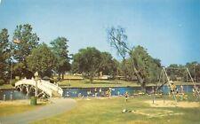Salisbury Maryland~Footbridge~Swing Set~City Park Playground~Postcard c1964
