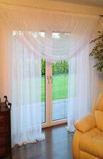 Moderne Fenstergardine aus Voile Schöne Gardine NEU HG-ADA weiß Fertiggardine