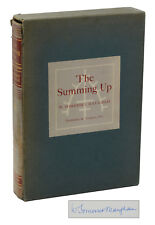 The Summing Up by W. SOMERSET MAUGHAM ~ SIGNED Limited Edition 1954 ~ 1st Thus