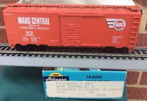 ATHEARN HO CUSTOM MARS CENTRAL RAILROAD 40' BOXCAR KD's very rare