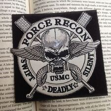USMC FORCE RECON Patches U.S.A. Navy Militaria Punk Hook Patch Badge