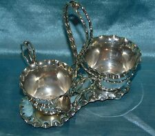 Amazing Aesthetic Movement Daniel & Arter Silver Plated Strawberry Set on Stand