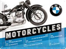 BMW  - MOTORCYCLES TIMELINE  Blechschild 30x40 cm  - Motorrad Sign Biker  23203