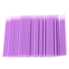 100Pcs Individual Lash Removing Brush Micro Eyelash Extension Tools Disposable