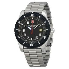 NEW VICTORINOX SWISS ARMY MEN'S ANALOG DISPLAY QUARTZ SILVER-TONE WATCH 241675