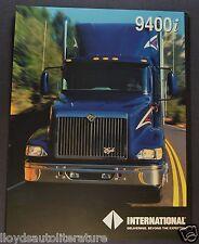 1999 International Truck 9400i Eagle Sales Brochure Sheet Excellent Original 99