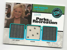 Amy Poehler Press Pass Parks & Recreation Triple Costume Card Leslie RT-AP /25