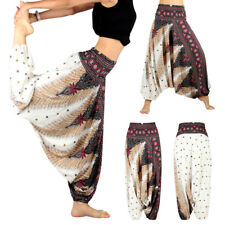 Free Size Boho Baggy Harem Pant Hippie Loose Fit Gypsy Yoga Palazzo Trousers US
