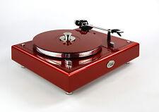 Restaurierter Thorens TD 160 Plattenspieler Designerstück caliente red metallic