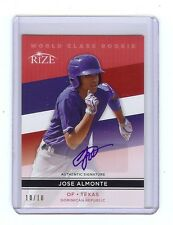 JOSE ALMONTE 2014 Rize World Class *RED* Certified AUTOGRAPH RC - Only 10 Made!