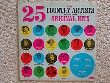 """25 COUNTRY ARTISTS SINGING THEIR ORIGINAL HITS LP ALBUM  LP-711, 1964 (#2324)"