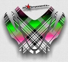 Arctic Cat M7 M8 M1000 Crossfire 05 - 11 Graphics Hood Decal Kit Plaid Pink