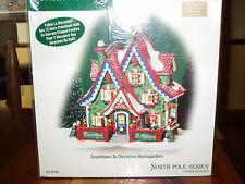 DEPT 56 NORTH POLE Village COUNTDOWN TO CHRISTMAS HEADQUARTERS NIB *Still Sealed