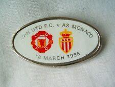 pin badge soccer football UEFA Champions League 18 March 1998 AS Monaco FC rare