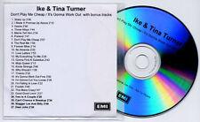 IKE & TINA TURNER Don't Play Me.. / It's Gonna Work.. UK promo test CD bonus trx