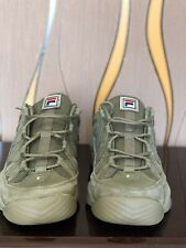 Fila Spaghetti Lows Olive-Green Sneakers/Shoes Men's Size: 13