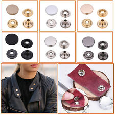 Press Studs Snap Fasteners with Alloy Top 12.5mm 15mm for DIY Leathercraft Cloth