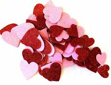 60 Foam Heart Glitter Table Scatter Valentine's Crafts Asst. Sizes Colors~ Qty 1