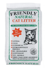 Friendly Natural Straw Based Cat Litter 8kg Out of Date Damaged Bag