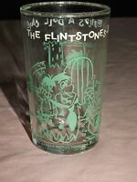 VINTAGE CARTOON 1963 FRED FLINTSTONE BUILDS A DOLL CAVE DRINKING GLASS