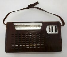 Vintage Standard Portable Radio With Genuine Lather Case Collectible