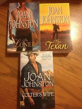 Joan Johnston LOT OF 3 The Loner, The Texan, Colter's Wife Paperback