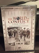 The World In Conflict 1944-1945  (DVD,2006) Rare Archival Footage/Mfg. Sealed