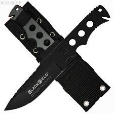 BlackField Tactical-Knives Integral flaches Ganzstahl Messer mit Nylonscheide