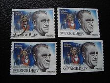 SUEDE - timbre yvert et tellier n° 2052 x4 obl (A29) stamp sweden (U)