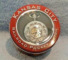 Kansas City Railroad Pocket Watch inspired By Jesse James; Brand New