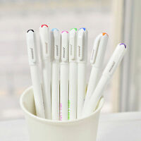 8PCS Cute Korean Stationery Watercolor Ballpoint Pen Gel Pen Color Kandelia