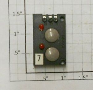 Z-Stuff DZ-1002R Remote 2-Button Switch Controller with 2 Red LED's