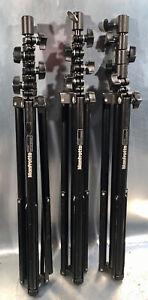 3x KOBOLD/MANFROTTO Lichtstative ca. 3m mit Tasche