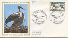 FIRST DAY COVER / 1° JOUR FRANCE / CIGOGNE D'ALSACE 1973 STRASBOURG