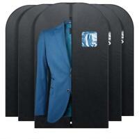 Garment Bag Suit Dress Coat Hanging Clothes Storage Cover Mens Travel 5-Pack