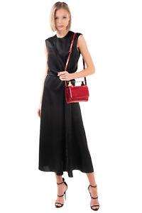 RRP€1220 M2MALLETIER Patent Leather Clutch Bag HANDMADE Metal Top Handle