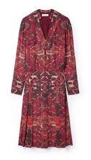 $595*NEW*Tory Burch Kera BOHO-Inspired Print Pleated Long Silk Dress~Size 10