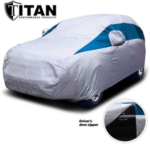 Titan Lightweight Car Cover Bondi Blue. Mid-Size SUV. Fits Ford Explorer Jeep...