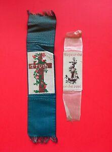 1850's Paper Punch Sampler Bookmark FromBoston Massachusetts