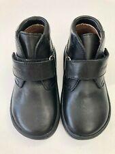 POM D'API Boys Walk Desert Black Leather Ankle Boot Size UK 6  EU 23