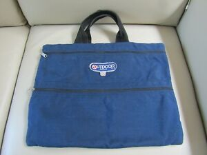 Vintage Outdoor Products Canvas Zipper Briefcase/Portfolio Tote Made in the USA