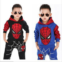 FASHION-Boys-Girls-Baby Kids Top Hoodie+Pants Trousers Sets Sportswear Clothes