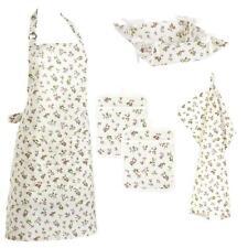 Bellina Floral Apron Pot Holders Tea Towel & Bread Basket Kitchen Accessory Set