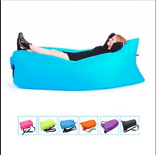 Inflatable Lazy Air Bed Lounger Couch Chair Sofa Bag Hangout Camping Beach BeanA