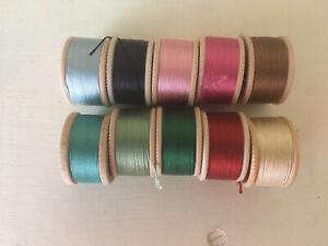 Vintage Coats & Clark's Silk Twist Buttonhole thread (10) - Fly Fishing