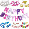 Happy Birthday Balloon Banner Bunting Self Inflating Letters Party Decoration UK