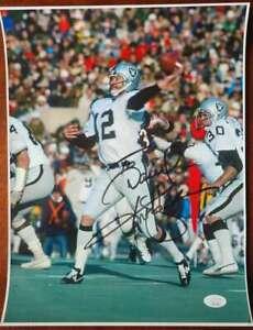Ken Stabler JSA Cert Signed 11x14 Photo Autograph