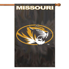 Missouri Tigers House Banner Flag PREMIUM Outdoor DOUBLE SIDE Embroidered