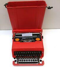 Vintage Olivetti Valentine RED Original Typewriter & Case VTG c 1970 #b